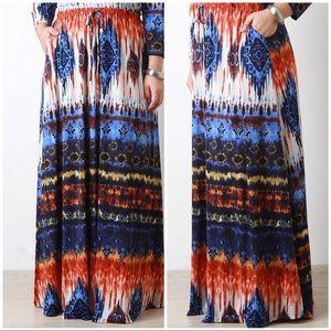 Dresses & Skirts - New Plus Size Tie Dye Maxi Skirt 4X